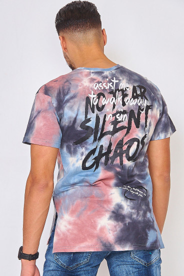 T-shirt tie and dye gris/rose / Project X - 2010107