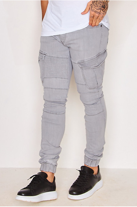 Jean Skinny cargo gris / Project X - TP21009