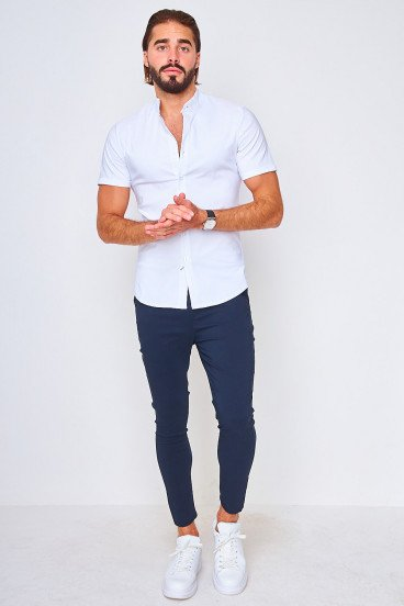 Chemise manches courtes blanche