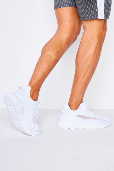 Baskets chaussettes blanches