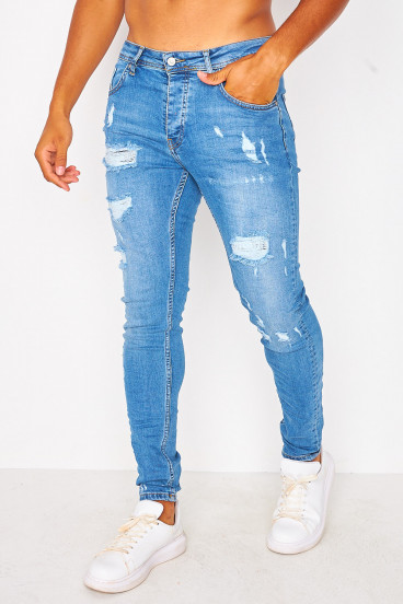 Ripped blue jean with lining / Project X - TP21007