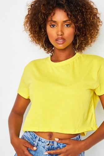 T-shirt large jaune uni