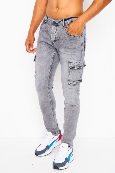 Jean Skinny gris cargo / Project X - TP21055