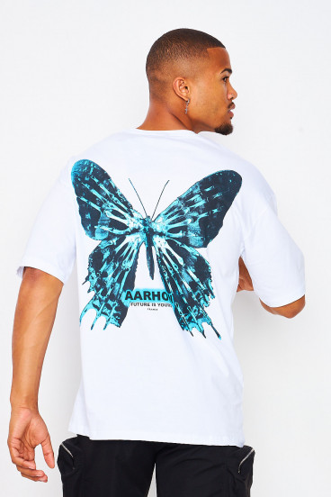 """T-shirt blanc Papillon """"Future is yours"""""""