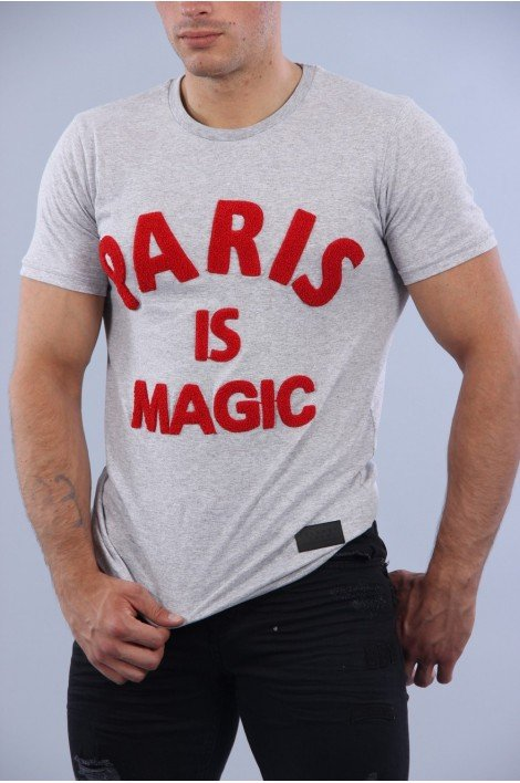 T-shirt Paris is magic Gris