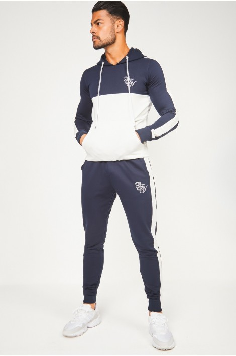 Ensemble sweat + jogging bleu et blanc Brentiny