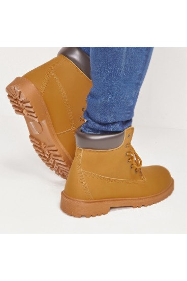 Chaussures montantes camel inspiration Timberland