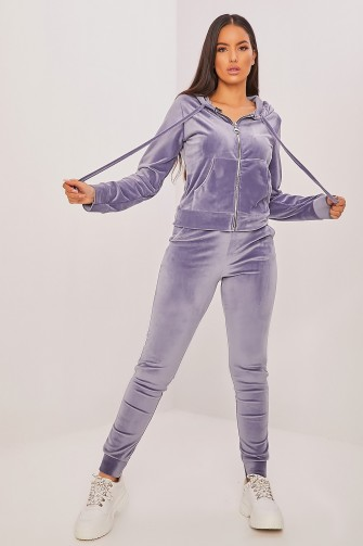 Ensemble jogging en velours bleu