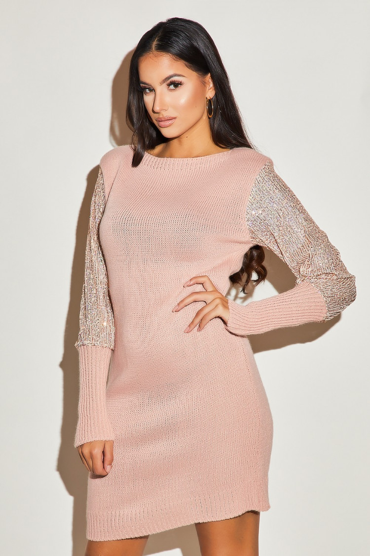 Robe Sequins Rose Low Cost 3e6e9 B18d1