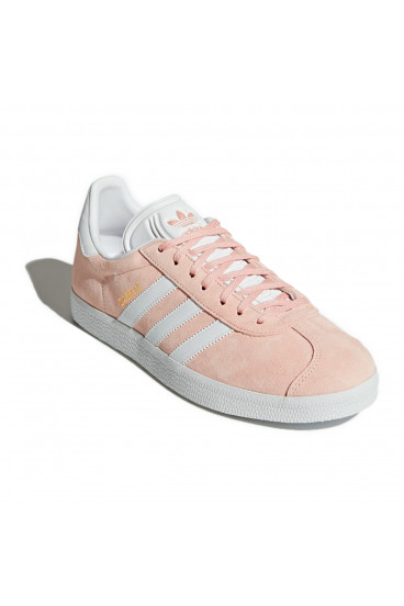 Pink and white gazelle sneakers / adidas